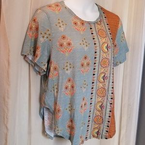 Anthropologie Postage Stamp Top